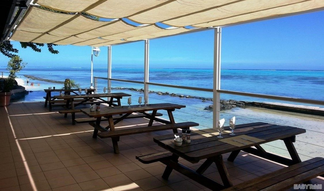 lunch with a view in Moorea, French Polynesia