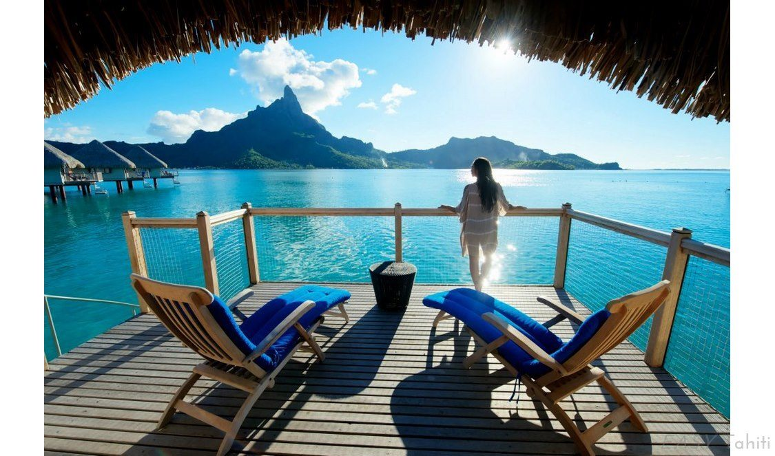 holiday in an overwater hut in bora bora