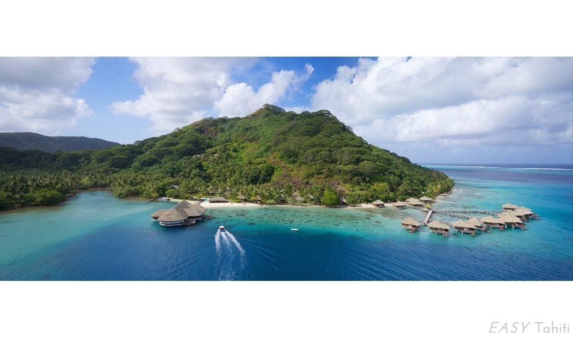 cheapest overwater vacation is in Huahine