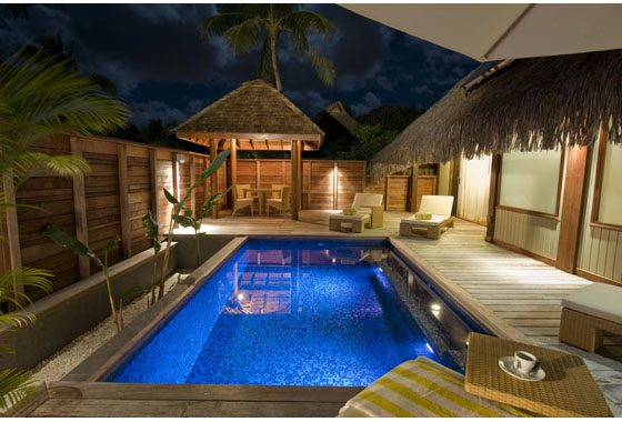 bungalow with private pool in Moorea, French Polynesia