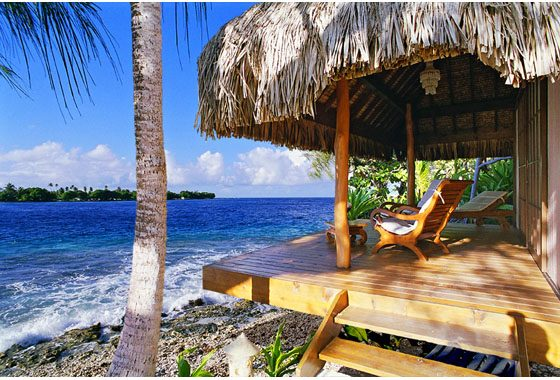 beach bungalow holidays in Rangiroa