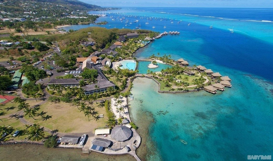 Intercontinental Tahiti Resort - Aerial View 01