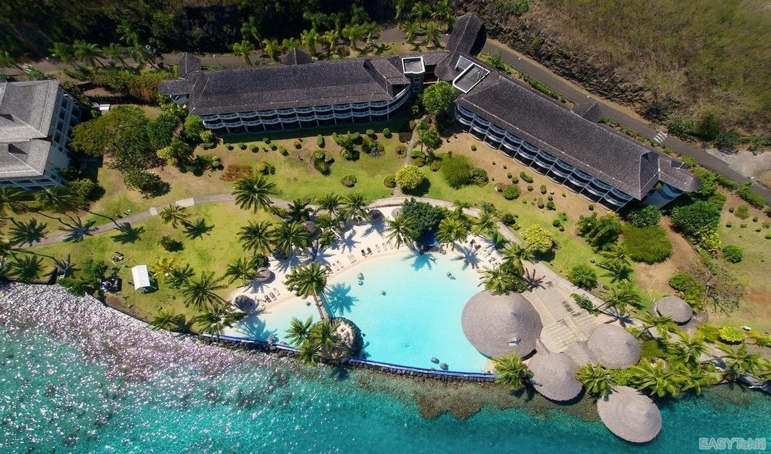 Intercontinental Tahiti Resort - Aerial View 04 slide