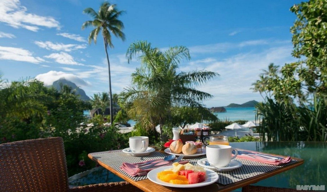 breakfast in Bora Bora French Polynesia