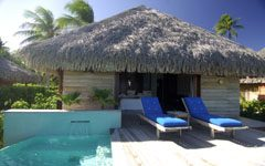 Deluxe Beach Bungalow with private swimming pool